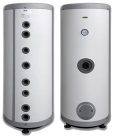 Divu tinumu kombinētie karstā ūdens boileri ar vietu elektriskajam tenam